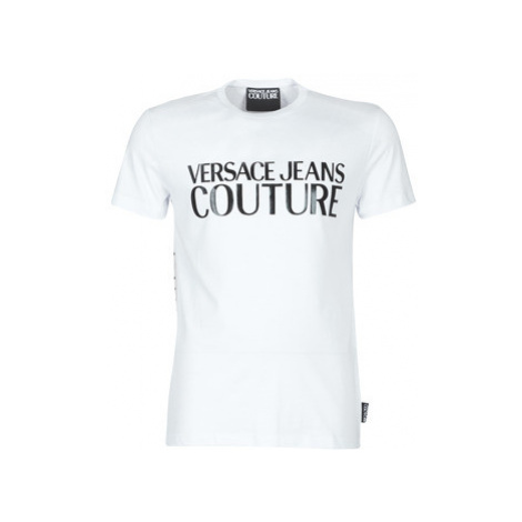 Versace Jeans Couture UUP SLIM MC LOGO PRINT men's T shirt in White