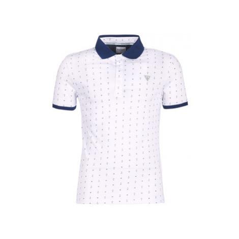 Guess ELDON men's Polo shirt in White
