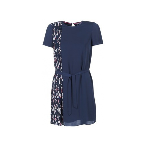 Tommy Hilfiger NALISE PLEATED DRESS NS women's Dress in Blue