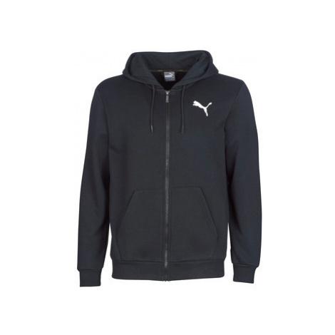 Puma ESSENTIAL HOODY ZIP men's Sweatshirt in Black