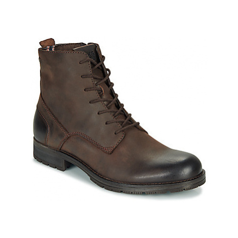 Jack Jones JFW ORCA LEATHER men's Mid Boots in Brown Jack & Jones