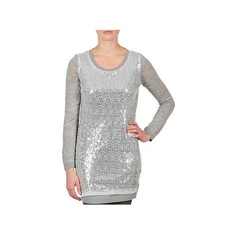 La City PULL SEQUINS women's Tunic dress in Silver