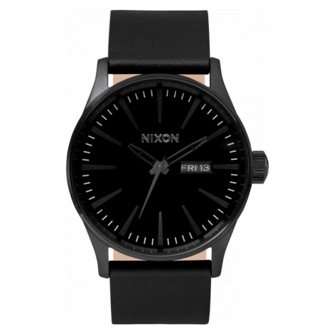 Mens Nixon The Sentry Leather Watch A105-001