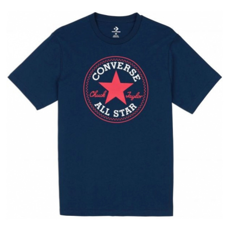 Converse CHUCK PATCH TEE dark blue - Men's T-shirt