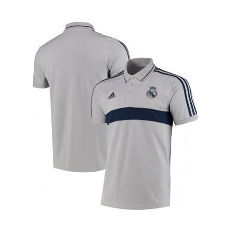 Real Madrid Leisurewear Polo - Grey Adidas