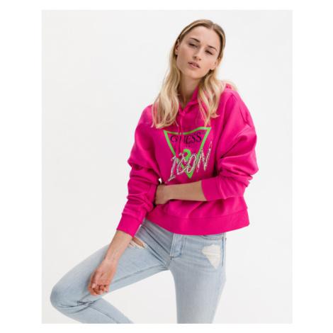 Guess Icon Logo Sweatshirt Pink