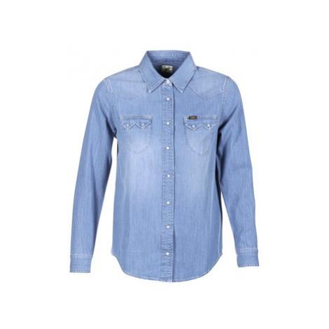 Lee REGULAR WESTERN women's Shirt in Blue
