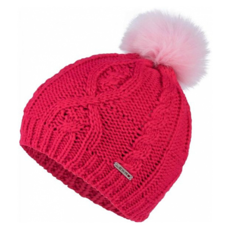 Lewro LINET red - Girls' knitted beanie