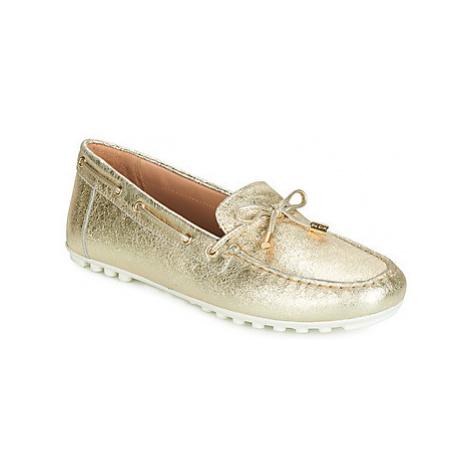 Geox D LEELYAN women's Loafers / Casual Shoes in Gold