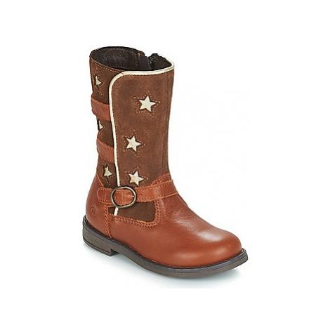Citrouille et Compagnie HANDRE girls's Children's High Boots in Brown