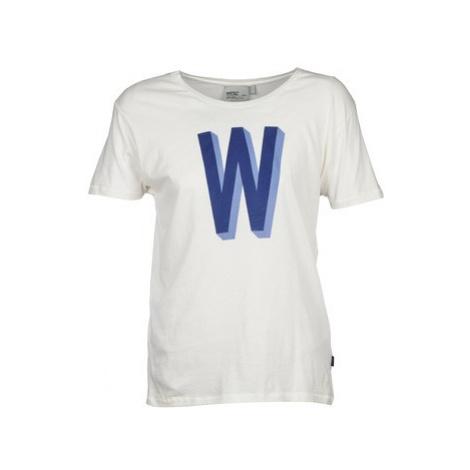 Wesc SANS SERIF W women's T shirt in White