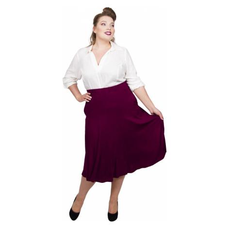 Panelled Jersey Skirt - Burgundy Scarlett & Jo