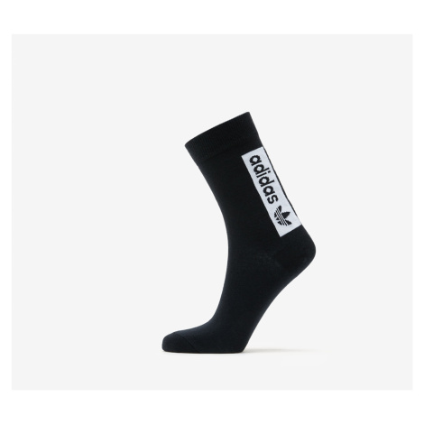adidas Thin Crew Socks 2 Pack White/ Black