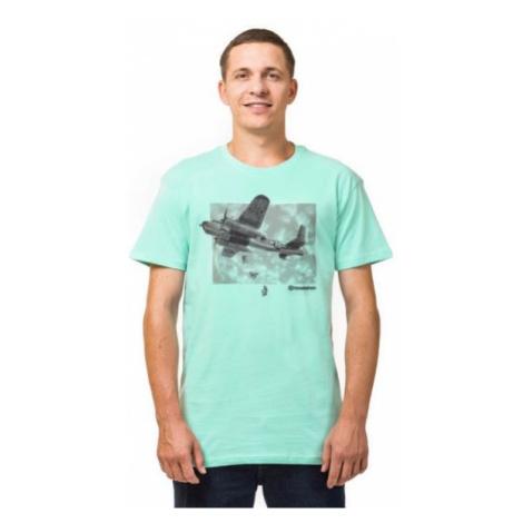Horsefeathers BOMBER T-SHIRT blue - Men's T-shirt