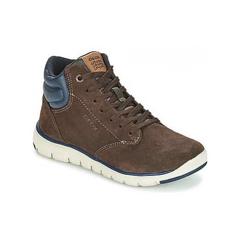 Geox J XUNDAY BOY boys's Children's Shoes (High-top Trainers) in Brown