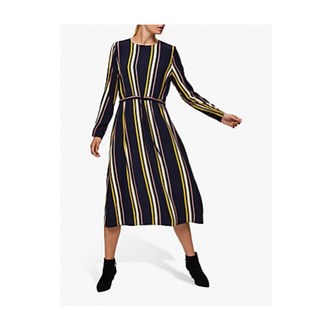 Selected Femme Lucia Damina Striped Dress, Nigh Sky