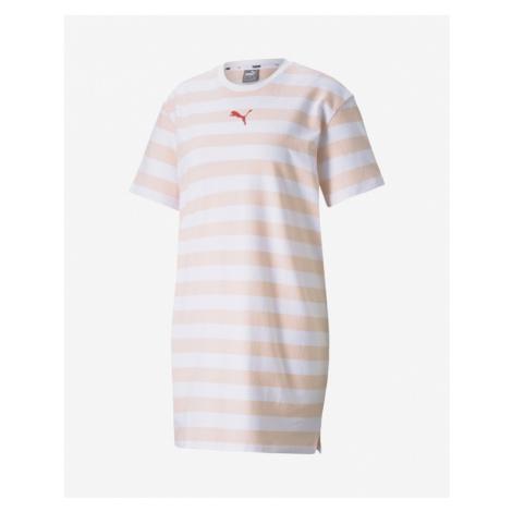 Puma Summer Stripes Dress Pink White