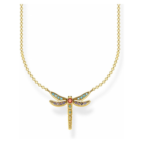 THOMAS SABO Glam & Soul Gold Plated Dragonfly Necklace