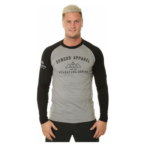 T-Shirt Sensor Merino Active PT Adventure LS - Gray/Black - men´s