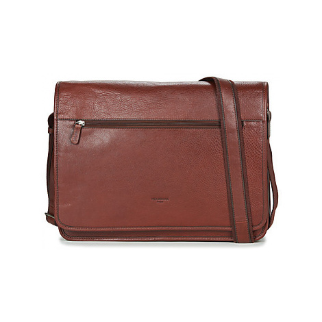 Hexagona TIMOTA men's Messenger bag in Brown