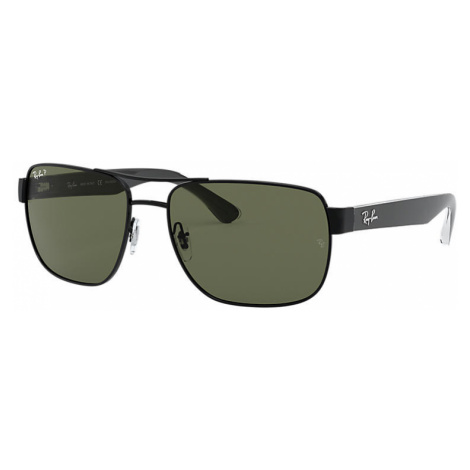 Ray-Ban Rb3530 Man Sunglasses Lenses: Green Polarized, Frame: Black - RB3530 002/9A 58-17