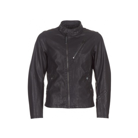 G-Star Raw EMPRAL 3D GPL BIKER JKT men's Leather jacket in Black