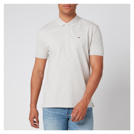 Tommy Jeans Men's Classics Solid Stretch Polo Shirt - Pale Grey Heather Tommy Hilfiger