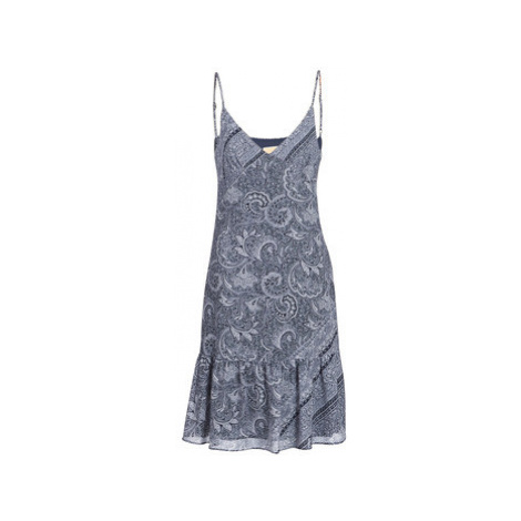MICHAEL Michael Kors ORNATE PAISLY SLIP DR women's Dress in Blue