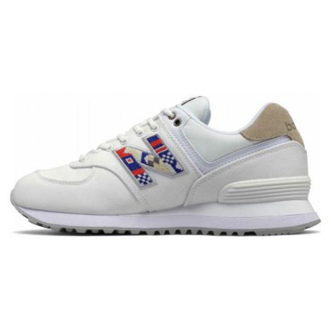 New Balance WL574SOD white - Women's leisure shoes