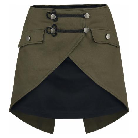 Gothicana by EMP - Elenor - Skirt - black-olive