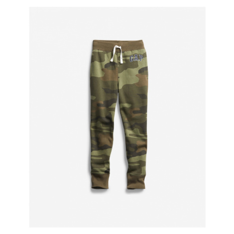 Green boys' sports trousers