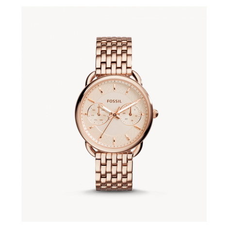 Fossil Women's Tailor Multifunction Rose-Tone Stainless Steel Watch