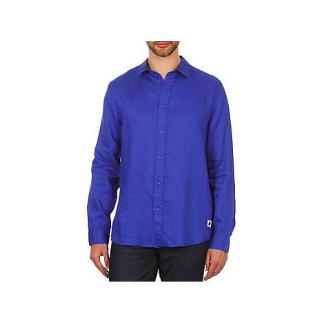 Chevignon SPEED LINEN men's Long sleeved Shirt in Blue
