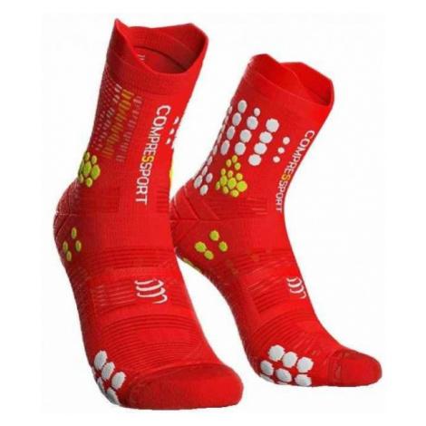 Compressport RACE V3.0 TRAIL red - Running socks