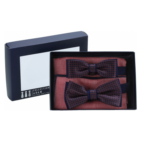 bow tie Adam Collection Big & Small - Dark Blue/Wine Rings
