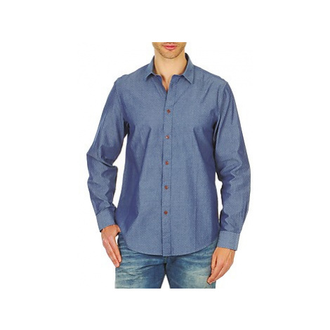 Ben Sherman BEMA00490 men's Long sleeved Shirt in Blue