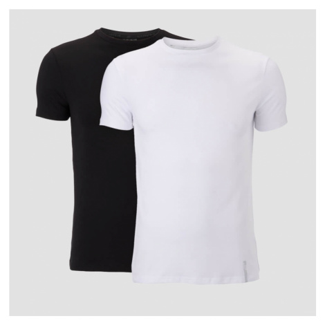 MP Men's Luxe Classic Crew T-Shirt - Black/White (2 Pack) Myprotein