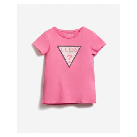 Guess Sequins Front Logo Kids T-shirt Pink