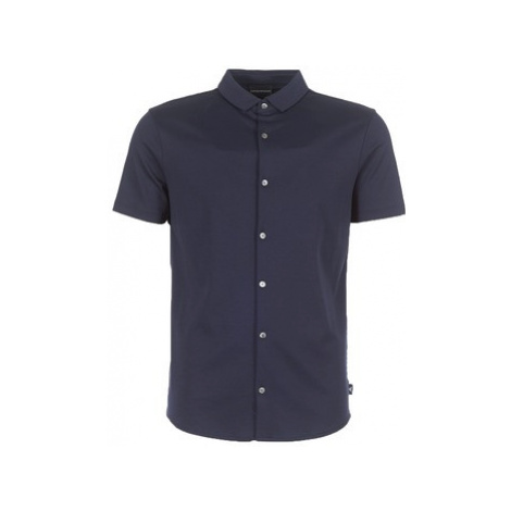 Emporio Armani BEWU men's Short sleeved Shirt in Blue