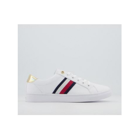 Tommy Hilfiger Corporate Cupsole Sneakers WHITE RED BLUE GOLD METALLIC