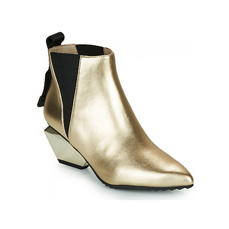 United nude JACKY TEK BOOTIE MID women's Low Ankle Boots in Gold