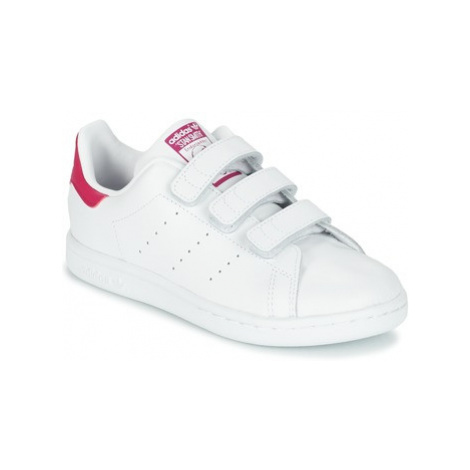 Adidas STAN SMITH CF C girls's Children's Shoes (Trainers) in White