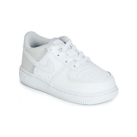 Nike AIR FORCE 1 TODDLER girls's Children's Shoes (Trainers) in White