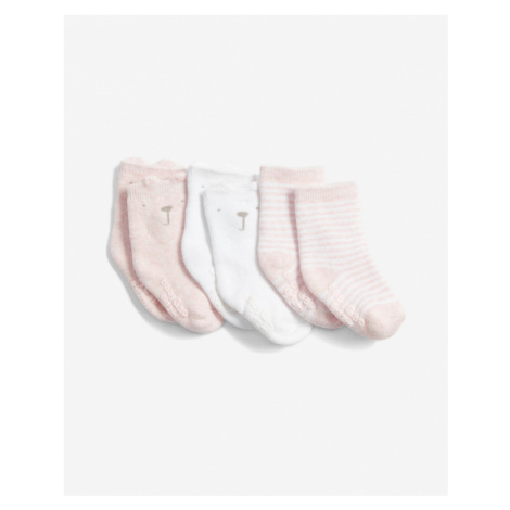 GAP Socks 3 pcs kids White Beige