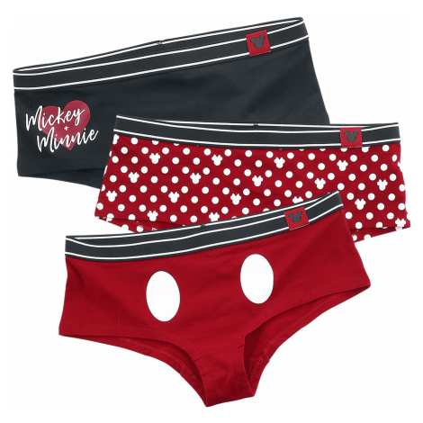 Mickey Mouse - Mickey and Minnie - Underwear - black-white-red