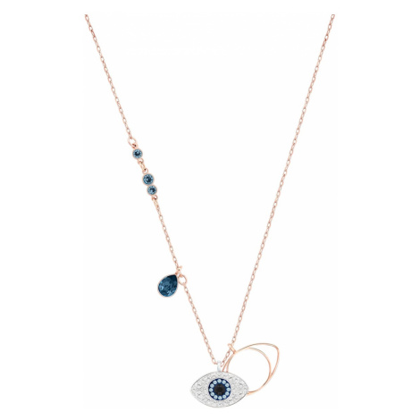 Swarovski Symbolic Evil Eye Pendant, Blue, Mixed metal finish