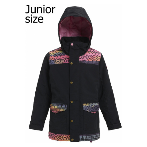 jacket Burton Elstar - True Black/Technicat Dream - girl´s