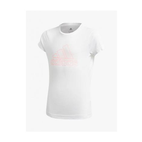 Adidas Girls' Central Logo T-Shirt, White