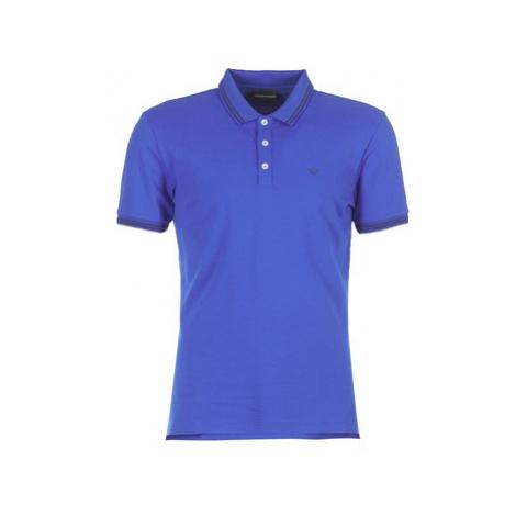 Emporio Armani TAMWU men's Polo shirt in Blue
