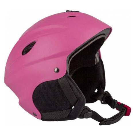 Pink ski helmets